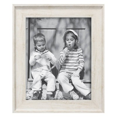 "8"" x 10"" Wood Tone Frame Ivory - Threshold™"