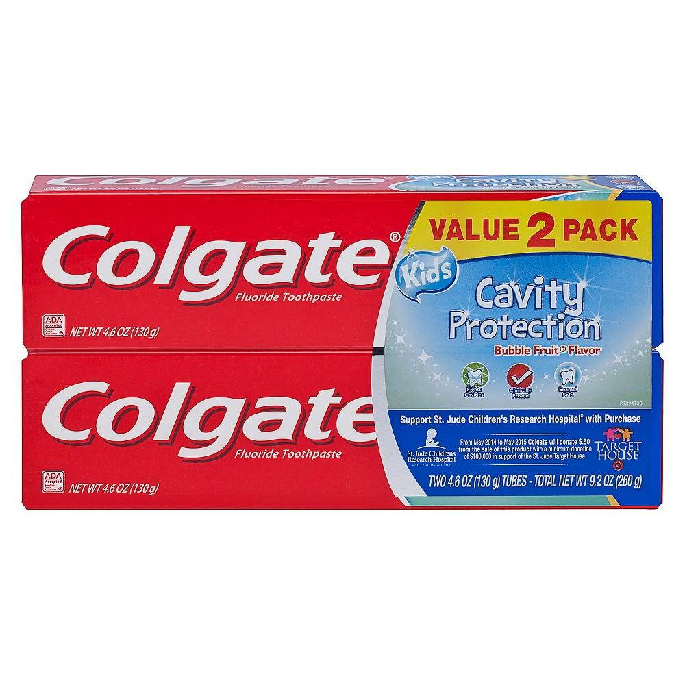 Image of Colgate Kids Cavity Protection Fluoride Toothpaste Bubble Fruit - 2pk/4.6oz Each