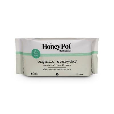 The Honey Pot Organic Cotton Non-Herbal Pantiliners - 30ct