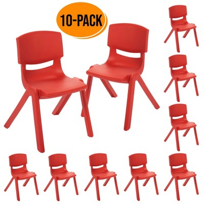 10in Resin School Stack Chair 10-Pack