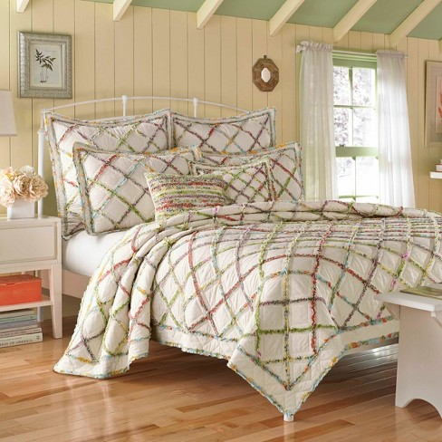 Ruffle Garden Quilt - Laura Ashley - image 1 of 3