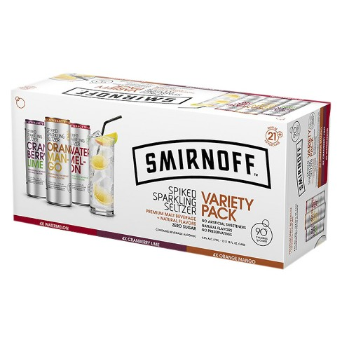 Smirnoff® Spiked Seltzer Mixed Box - 6pk / 12oz Cans - image 1 of 1