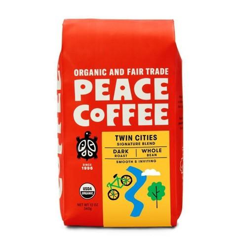 Peace Coffee Organic Fair Trade Twin Cities Blend Dark Roast Whole Bean Coffee- 12oz - image 1 of 4