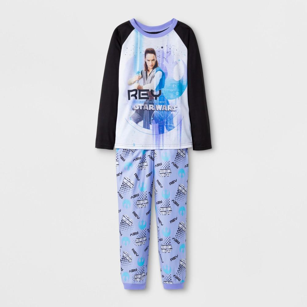 Girls' Star Wars Pajama Set With Gift Bag - Black L, Purple