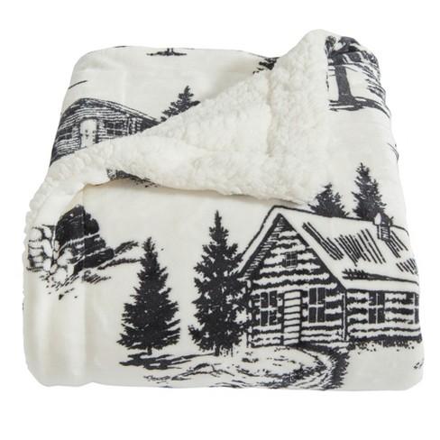 Home Fashion Designs Reversible Sherpa Velvet Plush Full Queen Blanket December Frost Target
