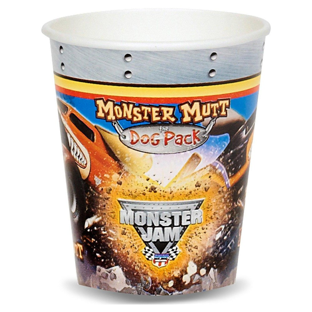 16ct Monster Jam 3D - 9oz Cup, Multicolored