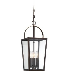 """The Great Outdoors 72724 Rangeline 4 Light 9"""" Wide Outdoor Taper Candle Mini Pendant"""
