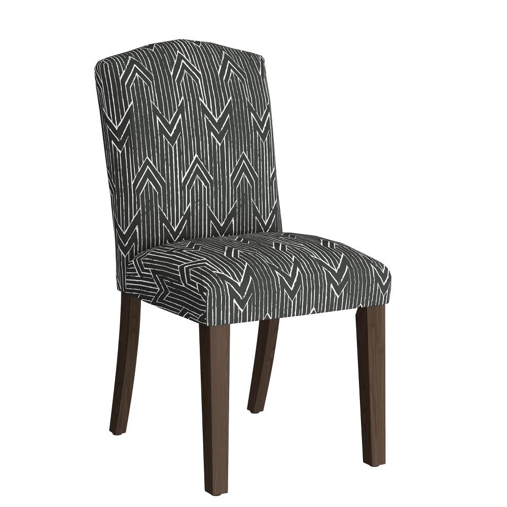 Camel Back Dining Chair Toledo Graphite Lux Skyline Furniture - Skyline Furniture
