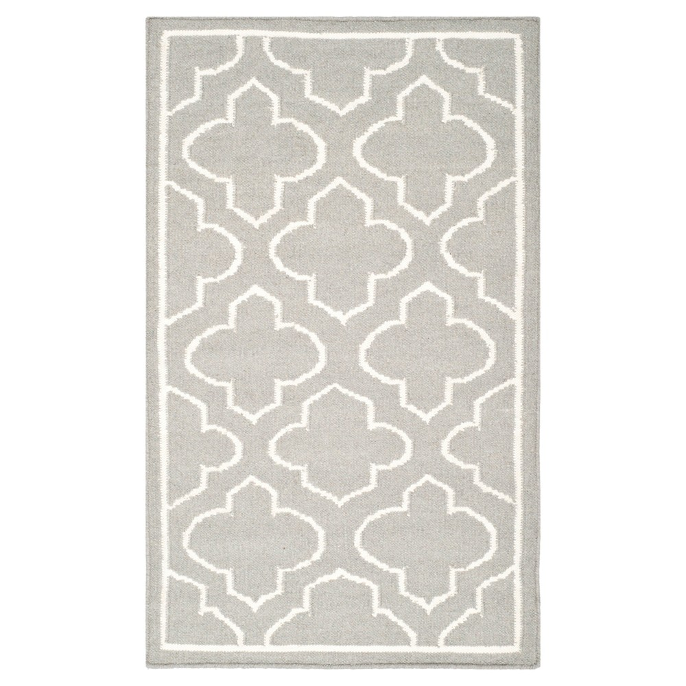 Marseille Dhurrie Accent Rug - Gray / Ivory (2'6 X 4') - Safavieh