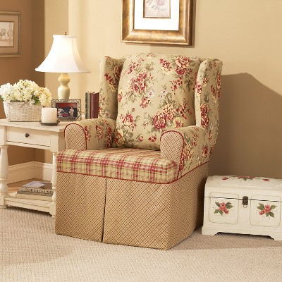 Lexington Wing Chair Slipcover Red   Sure Fit : Target