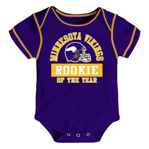 NFL Minnesota Vikings Boys  Newest Fan 3pk Bodysuit Set   Target 6db4ce5bb