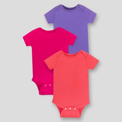 Lamaze Baby Girls' 3pk Organic Cotton Bodysuit - Pink 6M
