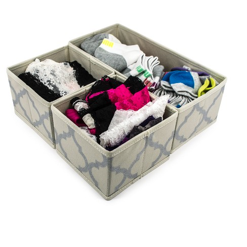 3pc Sorbus Cube Storage Box Buff Beige - image 1 of 6