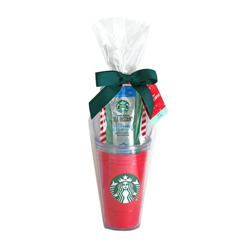 Starbucks Red Travel Mug With Via Instant Iced Coffee