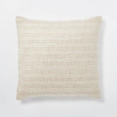 Oversized Woven Acrylic Square Throw Pillow Cream - Threshold™ designed with Studio McGee
