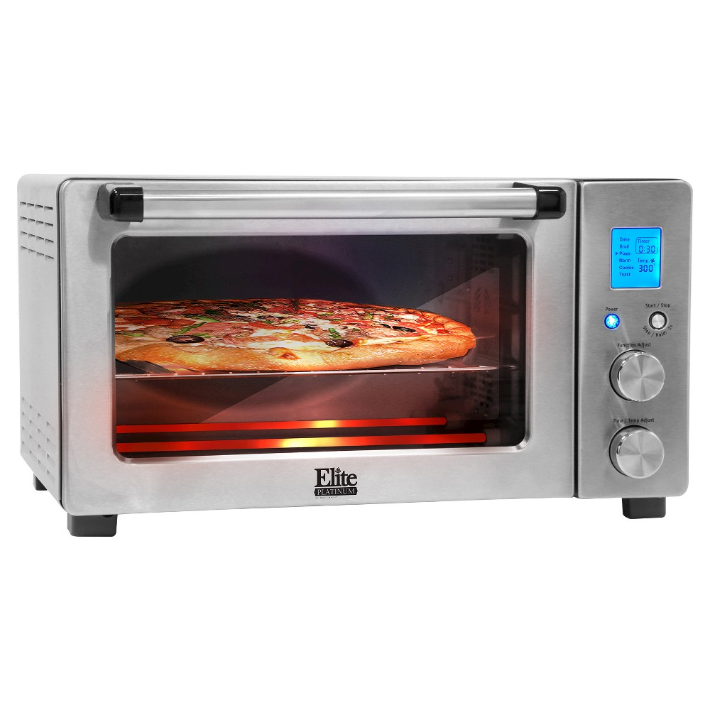 Elite Platinum Programmable Convection Oven – Stainless Steel, Medium Silver 49145608