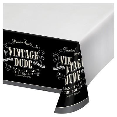 Vintage Dude Plastic Tablecloth