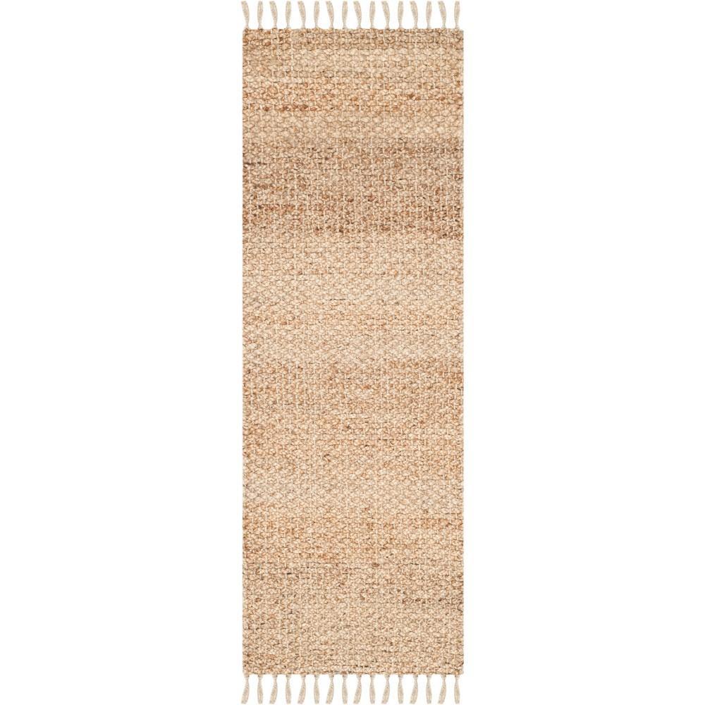 2'3X17' Solid Woven Runner Light Gray - Safavieh, White