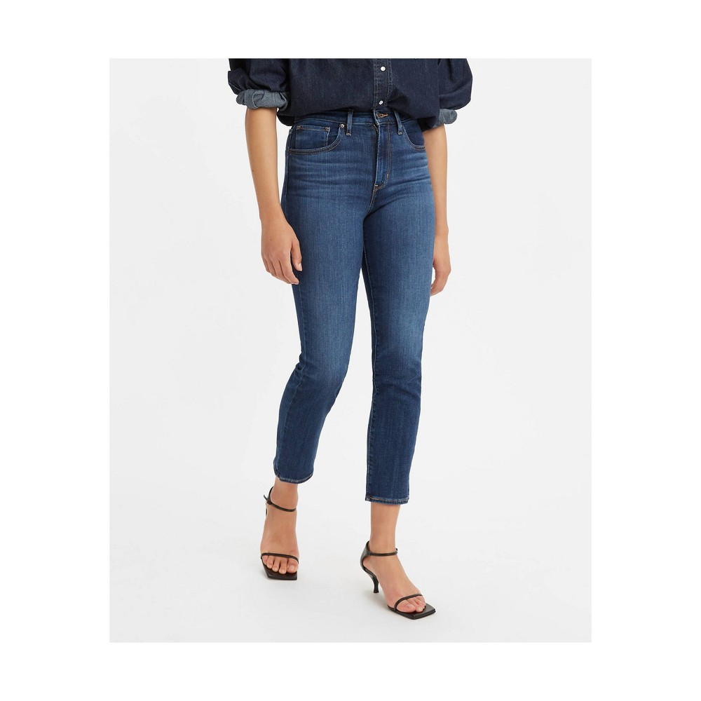 Levi 39 S 174 Women 39 S 724 8482 High Rise Straight Cropped Jeans Chelsea Scrape 26