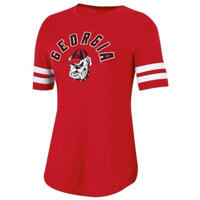 NCAA Georgia Bulldogs Women's Short Sleeve Crew Neck T-Shirt