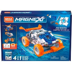 Mega Construx Magnext 4-in-1 Mag-racers Magnetic Construction Toy