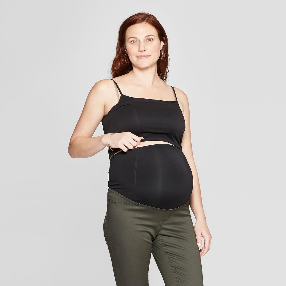 Maternity Crossover Panel Skinny Pants - Isabel Maternity by Ingrid & Isabel Dark Green 18, Infant Girl's