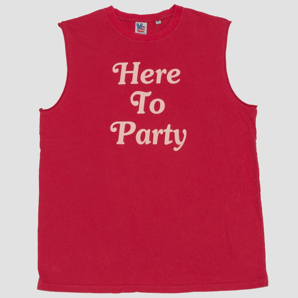 Junk Food Men's Here To Party Muscle Tank Top - Red L