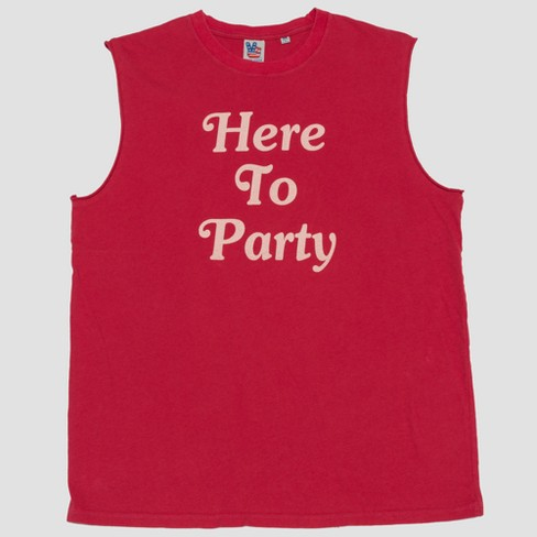 73e57d86 Junk Food Men's Here To Party Muscle Tank Top - Red : Target