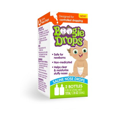 Boogie Drops Saline Nose Drops Twin Pack - 1.7 fl oz