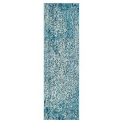 Evoke Rug - Blue/Ivory - 2'2 x7' - Safavieh