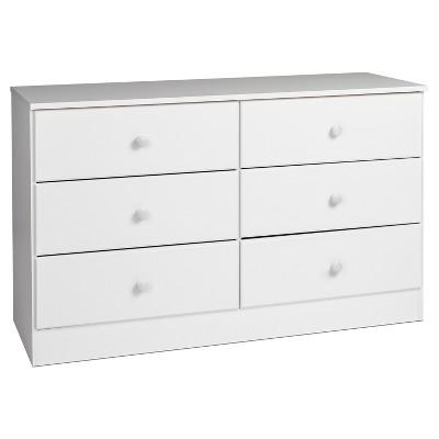 6 Drawers Astrid Dresser White - Prepac