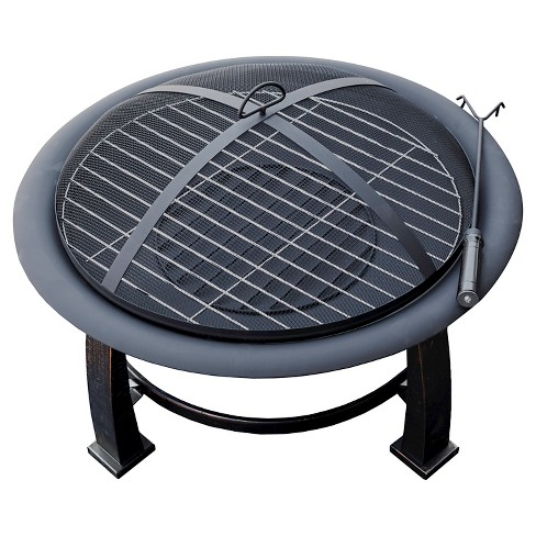AZ Patio Heaters® Wood Burning Fire Pit with Cooking Grate - Matte Black - image 1 of 1