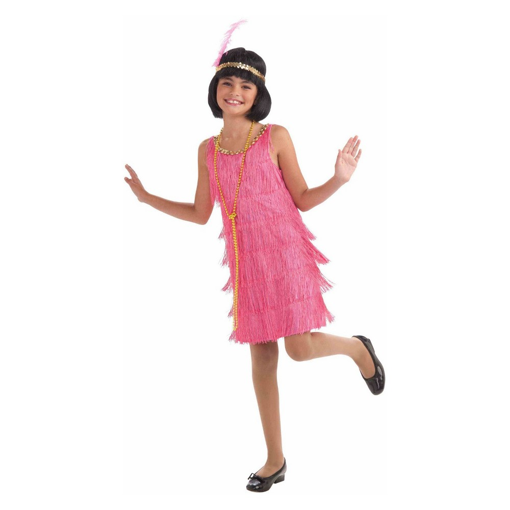 Image of Halloween Girls' Lil Miss Flapper Halloween Costume L, Girl's, Size: Large, MultiColored