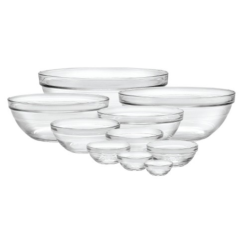 Duralex 10pc Glass Stackable Bowls - Clear - image 1 of 1