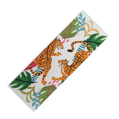"Avenie Jungle Cats II (6mm) 24"" x 70"" Yoga Mat - Society6"