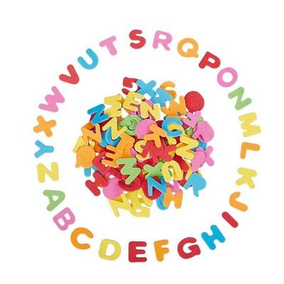 Foam Letter Stickers - 1300-Piece Self-Adhesive Foam Letters, 0.87 x 1-Inch Foam Alphabet, for Kids DIY Craft, Multicolored