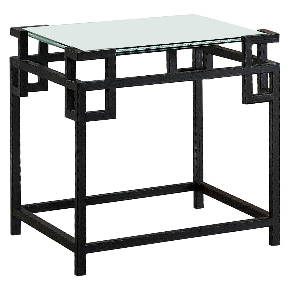 Iohomes Vicini Contemporary Geometric Inspired End Table Black - Homes: Inside + Out