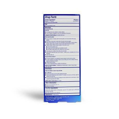 Differin Adapalene Gel 0 1% Acne Treatment - 15g