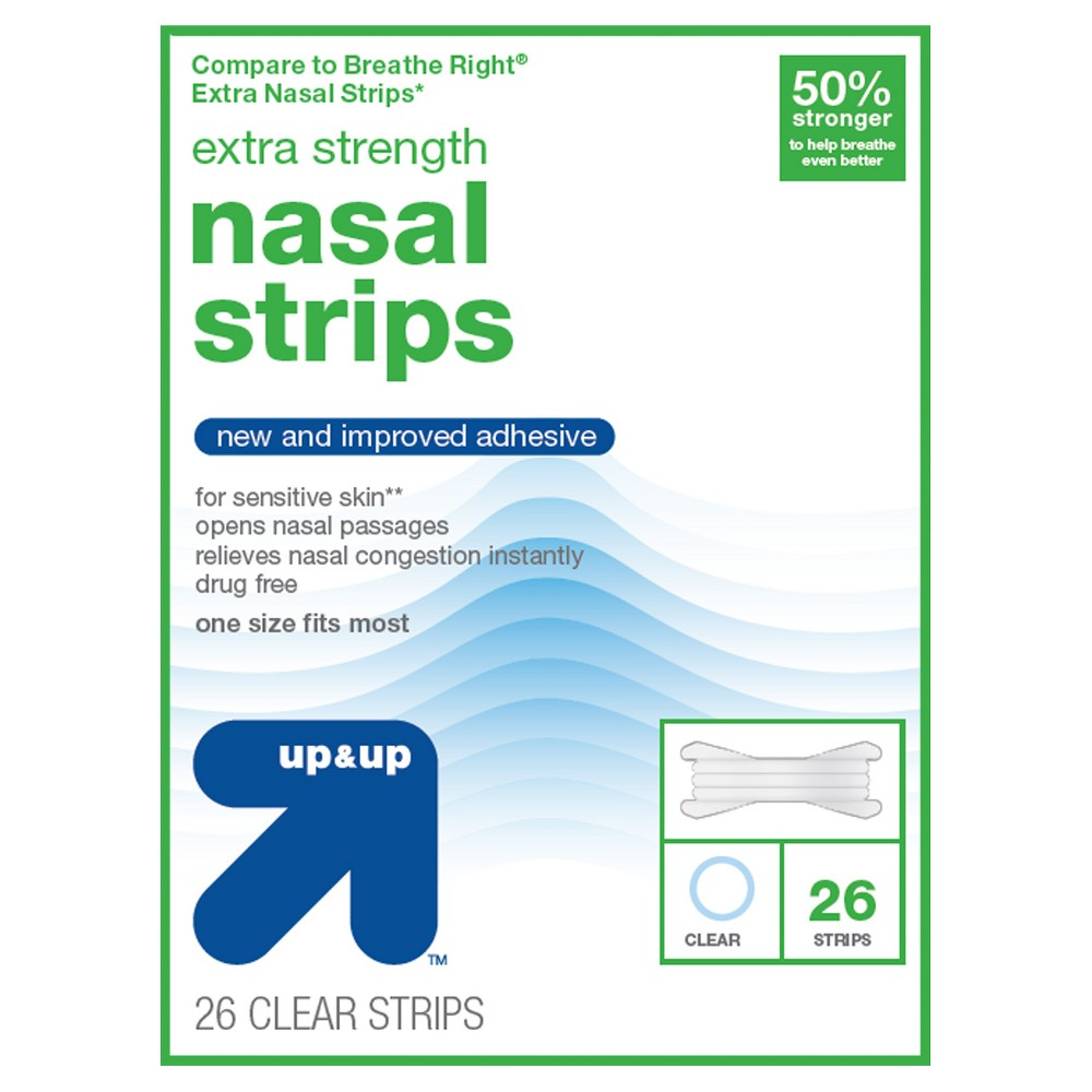 Extra Strength Nasal Strips- 26ct - Up&Up (Compare to Breathe Right Extra Nasal Strips)