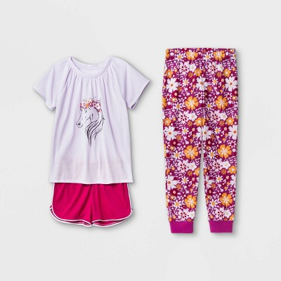 Girls' 3pc Horse Pajama Set - Cat & Jack™