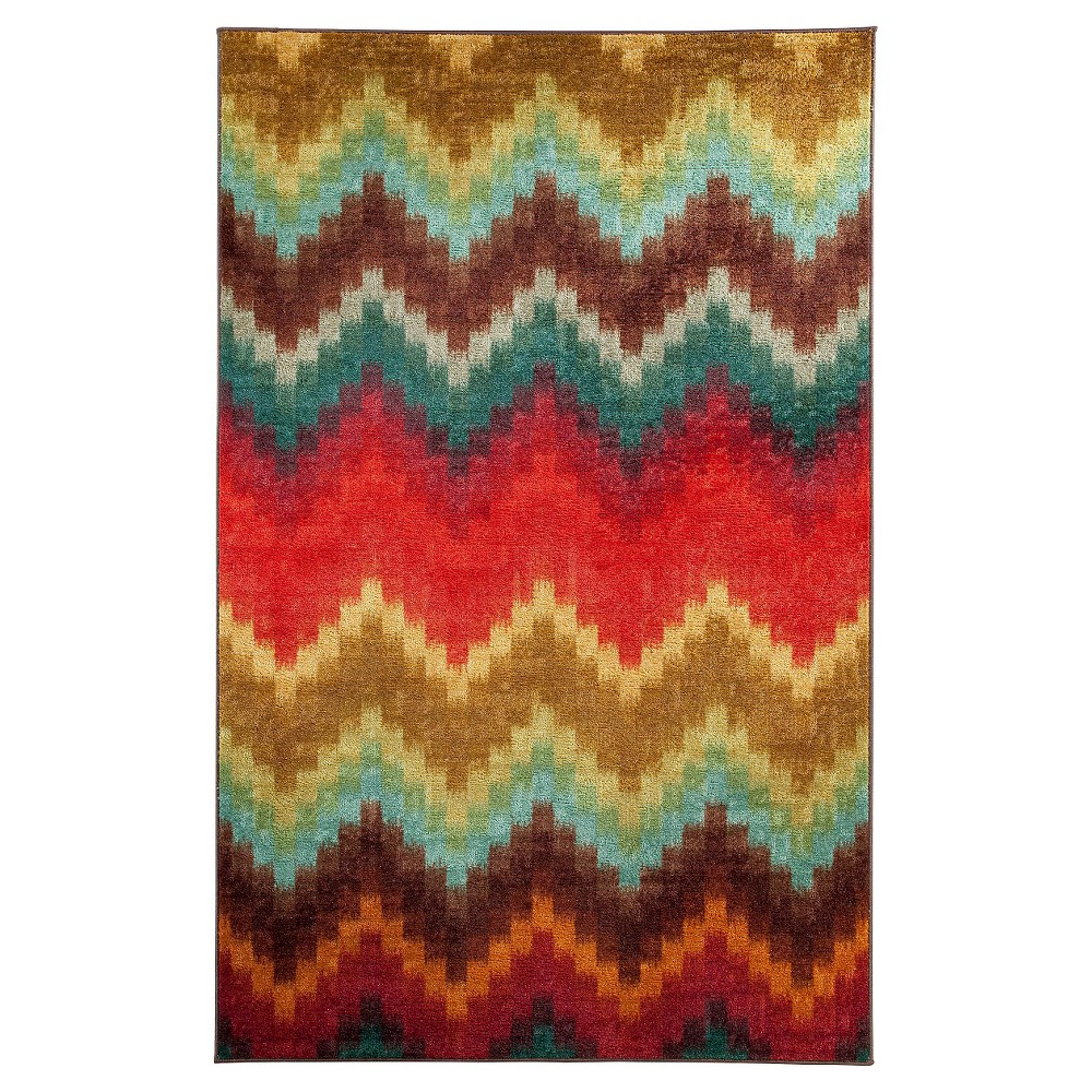Image of 5'X8' Painted Zig Zag Area Rug - Mohawk