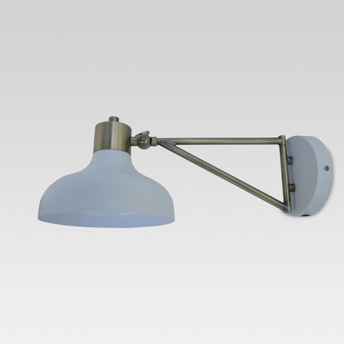 Crosby Swing Arm Sconce Wall Light Threshold