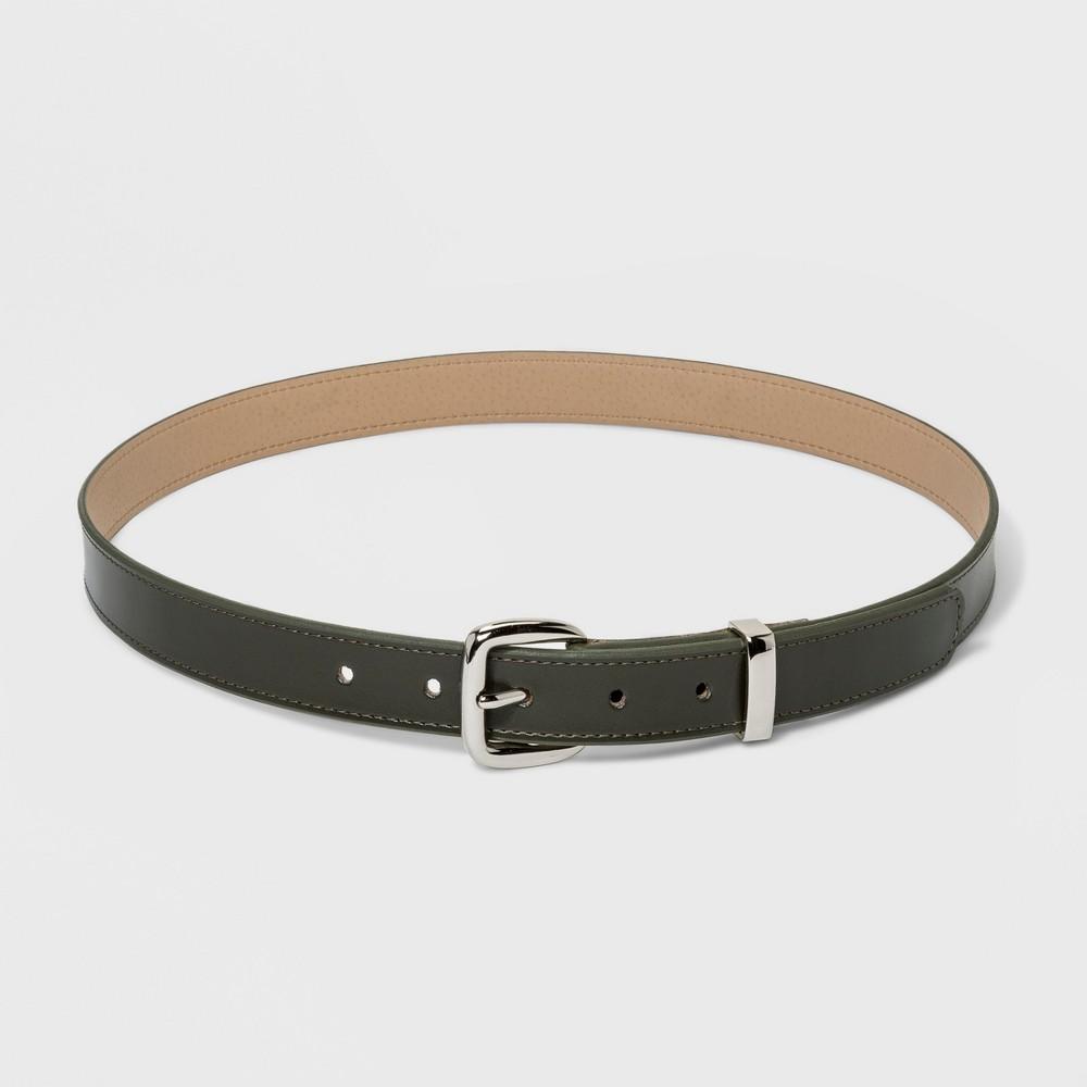 Women's Plus Size Metal Loop Trouser Belt - Ava & Viv Olive 2X, Green