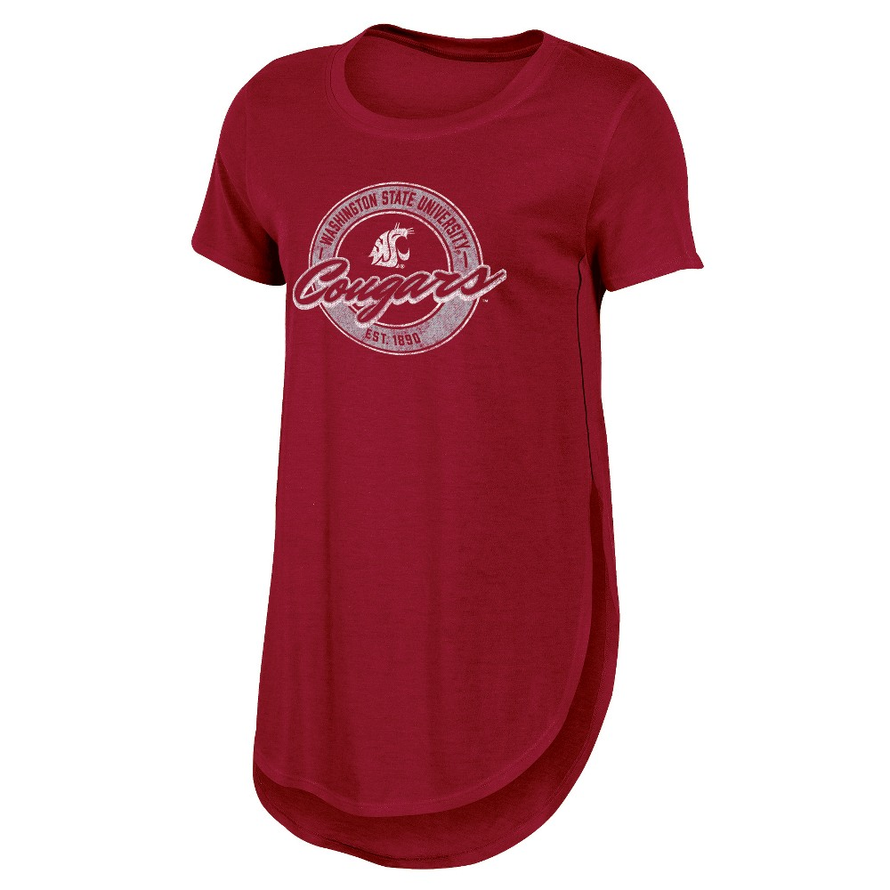 Washington State Cougars Women's Heathered Crew Neck Tunic T-Shirt - L, Multicolored