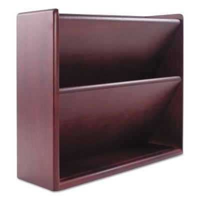 Carver Hardwood Double Wall File Letter Two Pocket Mahogany 09623