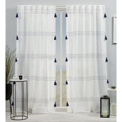 Demi Light Filtering Curtain Panel with Tassels - Exclusive Home
