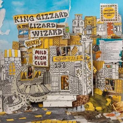 King Gizzard & The Lizard Wizard/Mild High Club - Sketches Of Brunswick East (LP) (Yellow w/ Blue Splatter) (Vinyl)