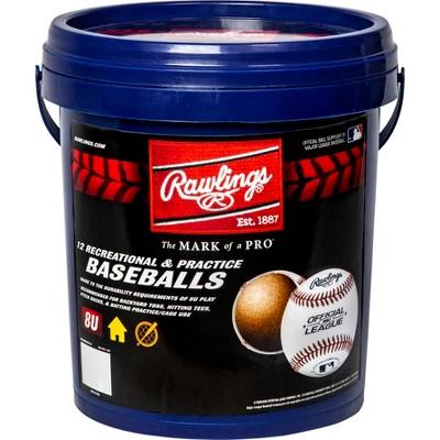 Rawlings Bucket of R8U Baseballs - 12pc
