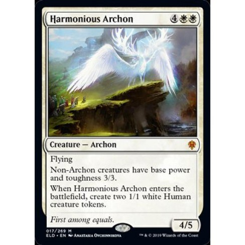 MtG Throne of Eldraine Mythic Rare Foil Harmonious Archon #17 - image 1 of 1