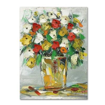 Trademark Fine Art 24 X 18 Hai Odelia Spring Flowers In A Vase 11 Canvas Art Target